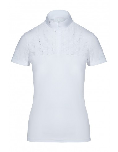 Polo de Concurso Cavalleria Toscana Square S/S Perforated Zip