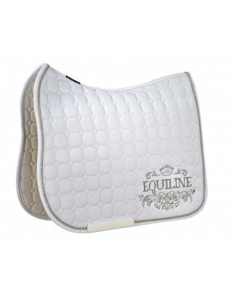 Equiline Octagon Galen White Saddle Pad