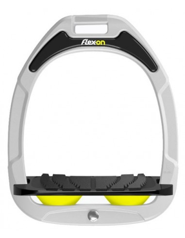 ESTRIBOS FLEX-ON COMPOSITE INCL ULTRA GRIP ALUMINIO/AMARILLO