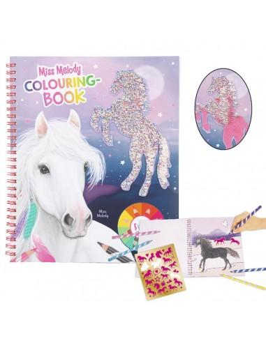 Libreta para colorear caballos Miss Melody