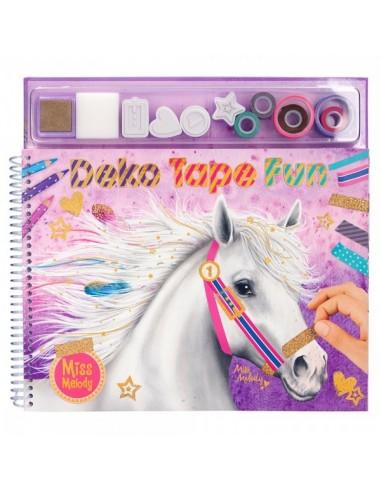 Libreta para pintar con sellos y pegatinas Miss Melody