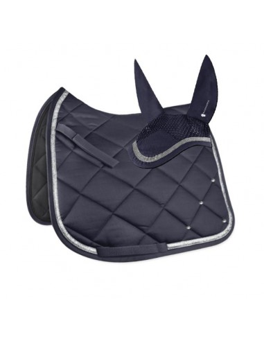 Crystal Competition Navy Saddle Pad &...