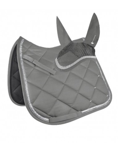 Crystal Competition Grey Saddle Pad &...