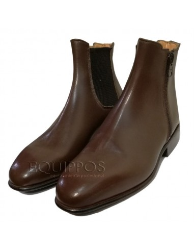 JODHPUR BOOTS OF LEATHER WITH ELASTIC AND SIDE ZIP KONIGS