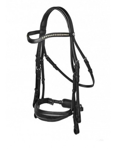 DOUBLE BRIDLE PRESTIGE CAPRI BIT RECESS WITH REINS