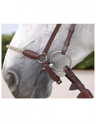 GERMAN NOSEBAND WITH RIGID ROPE