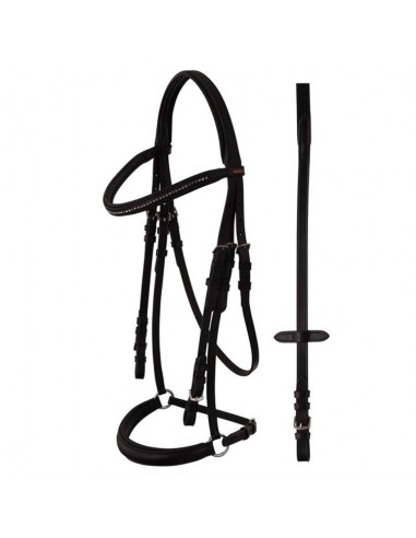 SNAFFLE BRIDLE WITH GERMAN NOSEBAND ROUEN