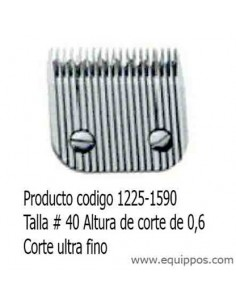 CUCHILLAS MUY FINAS WAHL TALLA-40 0,6MM