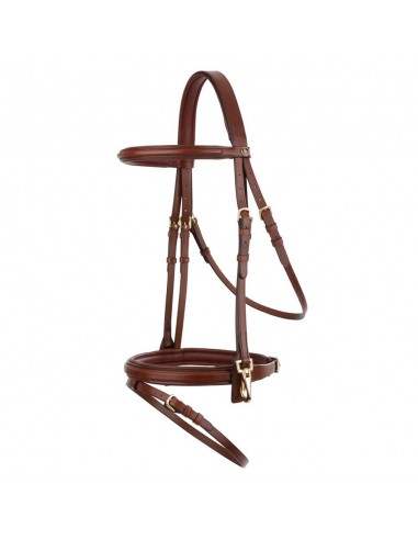 SNAFFLE BRIDLE BR JL TRAINING WITH HOOKS