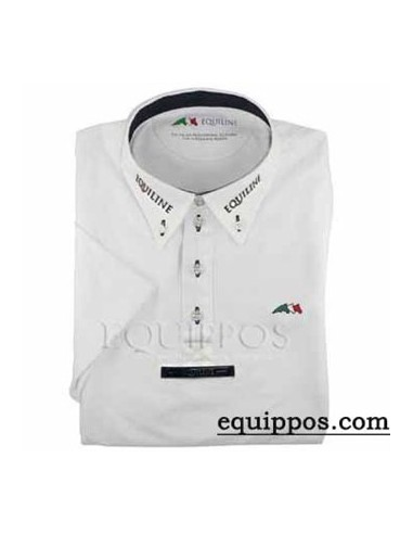 EQUILINE FOX WITH EMBROIDERY COMPETITION POLO SHIRT