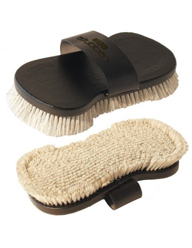 BRLEATHER BODY BRUSH WITH NATURAL HAIR