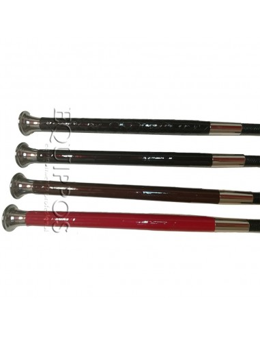 BASIC WHIP WITH PATENT LEATHER HANDLE...