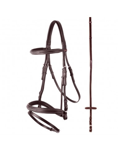SNAFFLE BRIDLE BR HADLEIGH WITH REINS