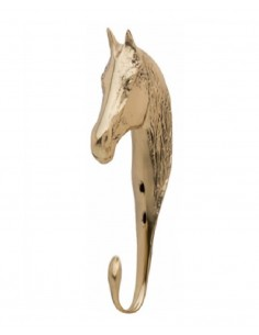 HORSE HEAD HOOK OF 15CM GOLD