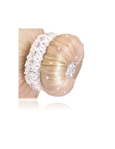 SD PEARL AND CRYSTAL SCRUNCHIE