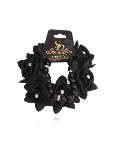 FLOWER SCRUNCHIE WITH STRASS AND SD DESIGN BRACELET