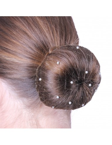 INVISIBLE HAIR NET WITH PEARLS