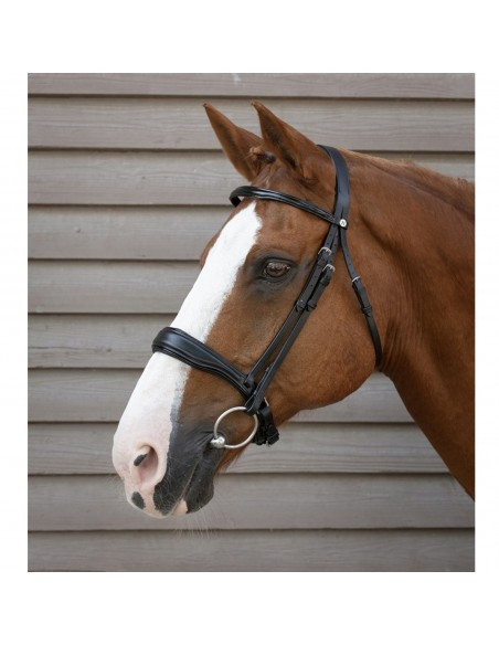 SNAFFLE BRIDLE PRO CONFORT BIT RECESS PATENT LEATHER BROWBAND