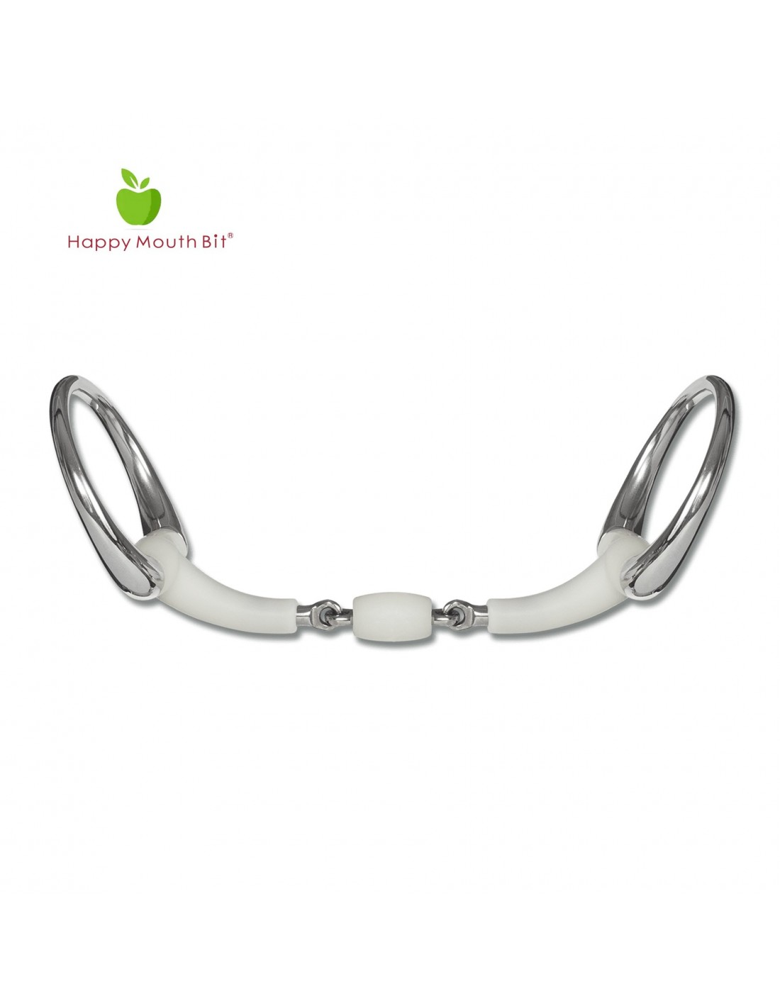 ALL SIZES NEW Flexi Apple Double Jointed Eggbutt Snaffle Bit FREE DELIVERY