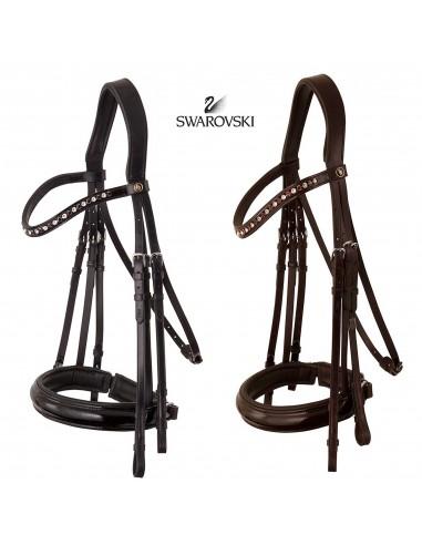 Anatomic Double Bridle BR Wendover Swarosvki Black Patent