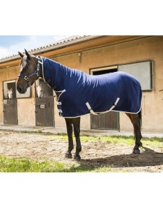 FLEECE RUG WITH NECK INTEGRATED COMBO 400GR