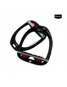ESTRIBOS FLEX-ON COMPOSITE INCLINADOS ULTRA GRIP NEGRO FUCSIA