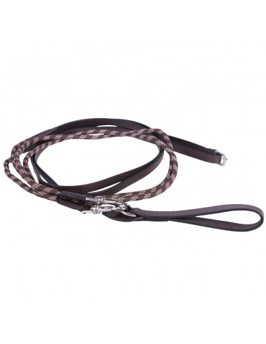 DRAW REINS OF LEATHER AND ROPE LUXURY