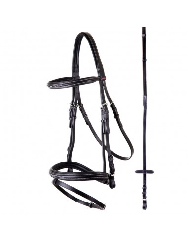 SNAFFLE BRIDLE BR NANCY WITH REINS