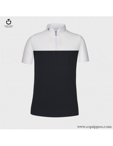 COMPETITION POLO CAVALLERIA TOSCANA PERFORATED NAVY