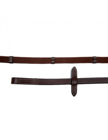 NYLON REINS WITH 9 LEATHER STOPS PASSIER