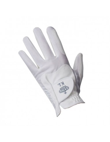 KINGSLAND CLASSIC RIDING GLOVES UNISEX WHITE
