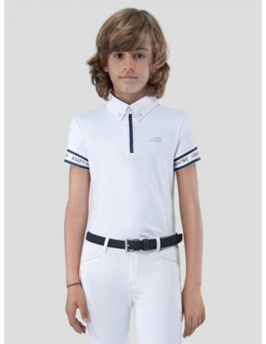 EQUILINE DUMBO BOYS WHITE COMPETITION POLO SHIRT