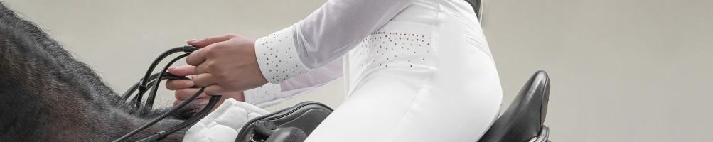 Pantalones de Competición Equitación Mujer